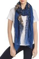 Zadig & Voltaire Delta Leopard Color Block Scarf