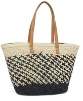 Magid Straw Patterned Tote.