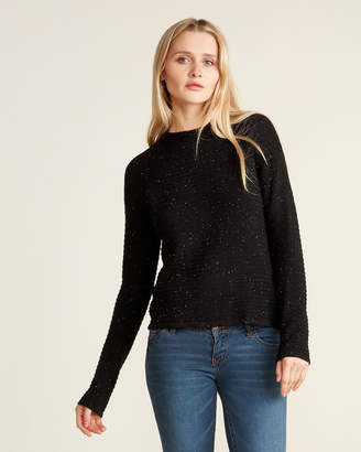 Andrea Jovine Long Sleeve Ribbed Speckled Sweater