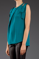 Prabal Gurung Sleeveless Pleat Top