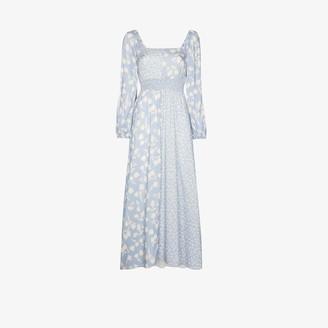 Peony Swimwear Lavender Vacation floral midi dress