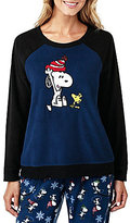Peanuts Snoopy & Woodstock Microfleece Sleep Top