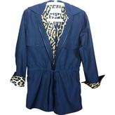 Saint Laurent Black Polyester Trench coat