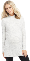 Motherhood Ribbed Turtleneck Maternity Tunic