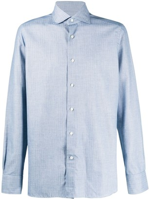 Ermenegildo Zegna Long-Sleeved Spread-Collar Shirt