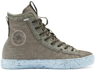 Converse Chuck Taylor All Star hi crater foam trainers in green