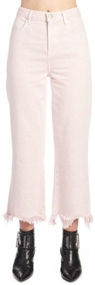 J Brand Cropped Frayed Jeans