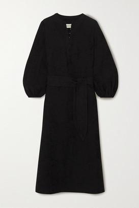 Mara Hoffman June Organic Cotton And Linen-blend Midi Dress - Black