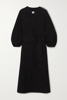 Mara Hoffman Net Sustain June Organic Cotton And Linen-blend Midi Dress - Black