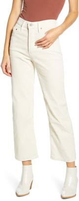 Levi's Ribcage High Waist Straight Leg Ankle Corduroy Pants