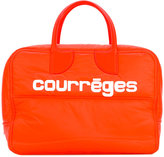 Courreges logo print tote - women - Cotton/Lamb Skin/Polyamide - One Size