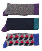 Ted Baker Archway Three Pack Geo Sock Set