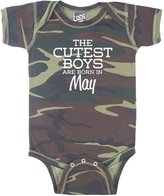Decal Serpent The Cutest Boys Are Born In May Funny Baby Boy Bodysuit Infant - 6 Month