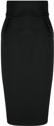 Alexandre Vauthier High-Waisted Wool-Blend Skirt