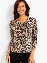 Talbots Charming Cardigan - Animal Print