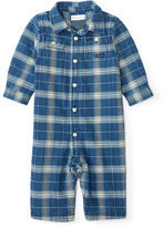 Ralph Lauren Plaid Cotton Twill Coverall