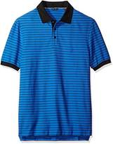 Nautica Men's Big and Tall Short Sleeve Striped Polo Shirt