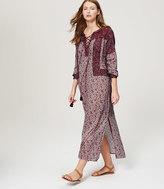 LOFT Petite Beach Floral Lace Up Maxi Dress