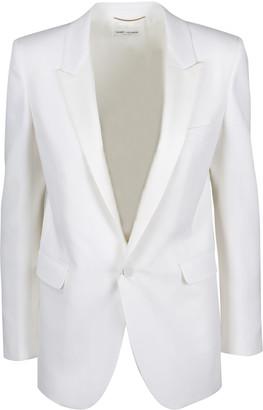 Saint Laurent Tuxedo White Jacket