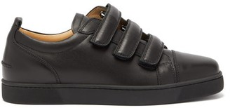 Christian Louboutin Kiddo Velcro Leather Trainers - Mens - Black
