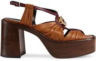 Gucci Interlocking G mid-heel platform sandals