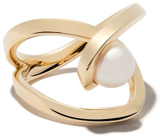 Tasaki 18kt yellow gold Aurora Akoya pearl ring