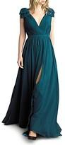 Basix II Pleated Deep-v Gown