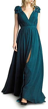 Basix II Pleated Deep-v Gown