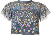 Needle & Thread floral embroidered blouse - women - Polyester - 6