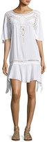 Vix Gabi Eyelet Coverup Dress, White