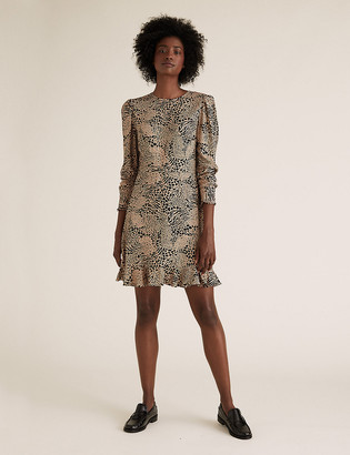 Marks and Spencer Animal Print Mini Tea Dress