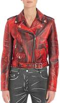 Moschino Women's Faded Faux Leather Moto Jacket