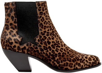 Golden Goose Sunset Leopard-print Calf Hair Ankle Boots