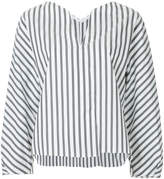 TOMORROWLAND V-neck striped blouse