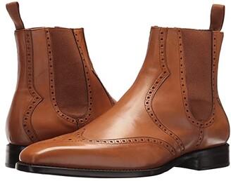 Carlos by Carlos Santana 1947 Chelsea Boot (Tan Full Grain Box Calf) Men's Dress Zip Boots