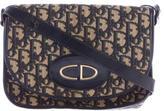 Christian Dior Diorissimo Leather-Trimmed Shoulder Bag