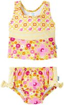 I Play 2 Piece Bow Tankini Swimsuit Set (Baby/Toddler) - Yellow Fiesta Floral - 12-18 Months