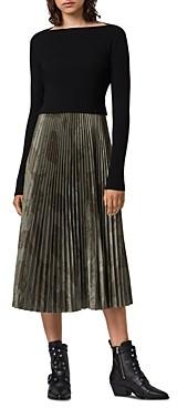 AllSaints Lera 2-in-1 Slip Dress