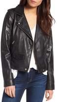 Andrew Marc Wesley Washed Leather Biker Jacket