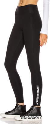 Burberry Zip Leggings in Black | FWRD