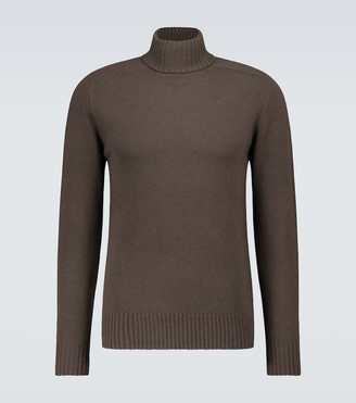 Officine Generale Wool-cashmere turtleneck sweater