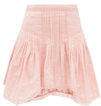Etoile Isabel Marant Prandali Handkerchief-hem Cotton-voile Mini Skirt - Womens - Pink