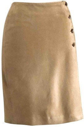 Ralph Lauren Beige Suede Skirt for Women