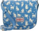 Cath Kidston Mono Cats Curved Saddle Bag