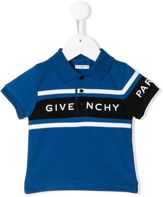 Givenchy Kids Logo Print Polo Shirt