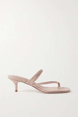 PORTE & PAIRE Leather Sandals - Beige