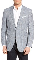 Hart Schaffner Marx Men's Classic Fit Plaid Linen & Cotton Sport Coat