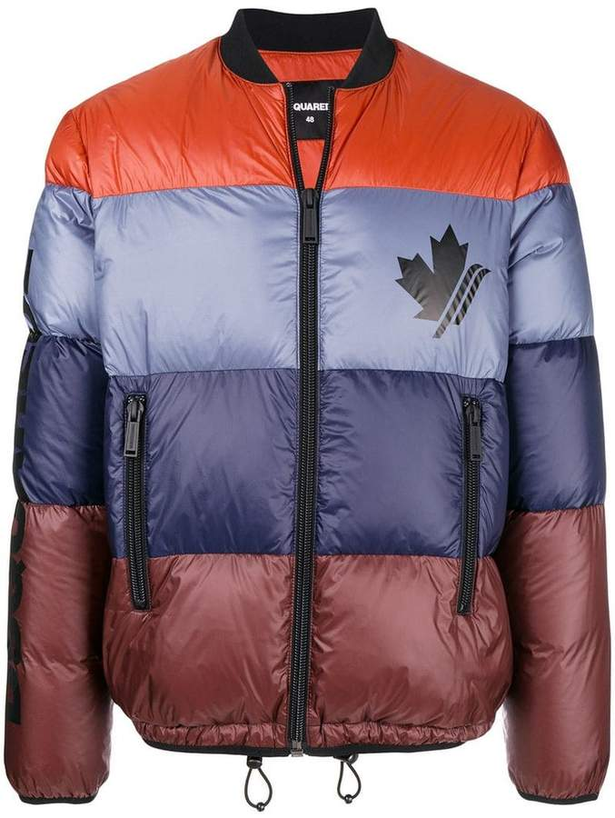 DSQUARED2 striped down jacket