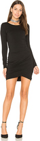 Bobi Jersey Ruched Dress in Black