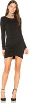 Bobi Jersey Ruched Dress in Black